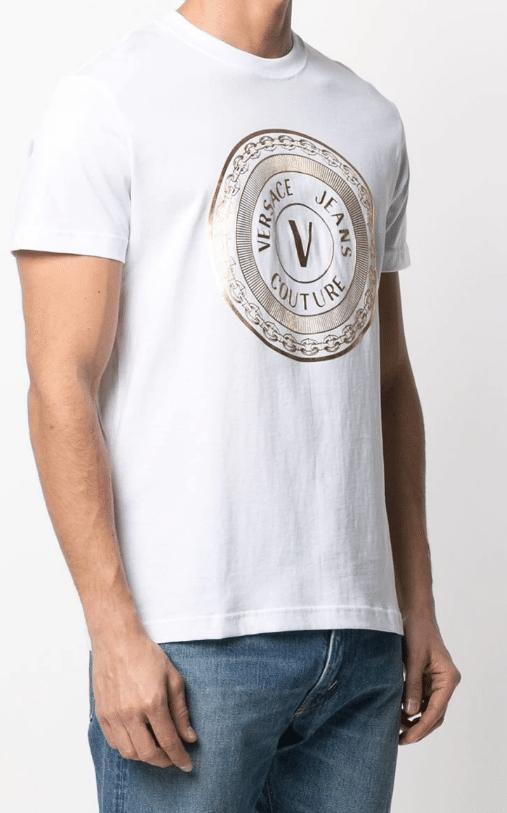 tee shirt versace cercle blanc manequin