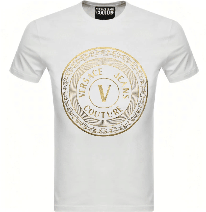 tee shirt versace cercle blanc